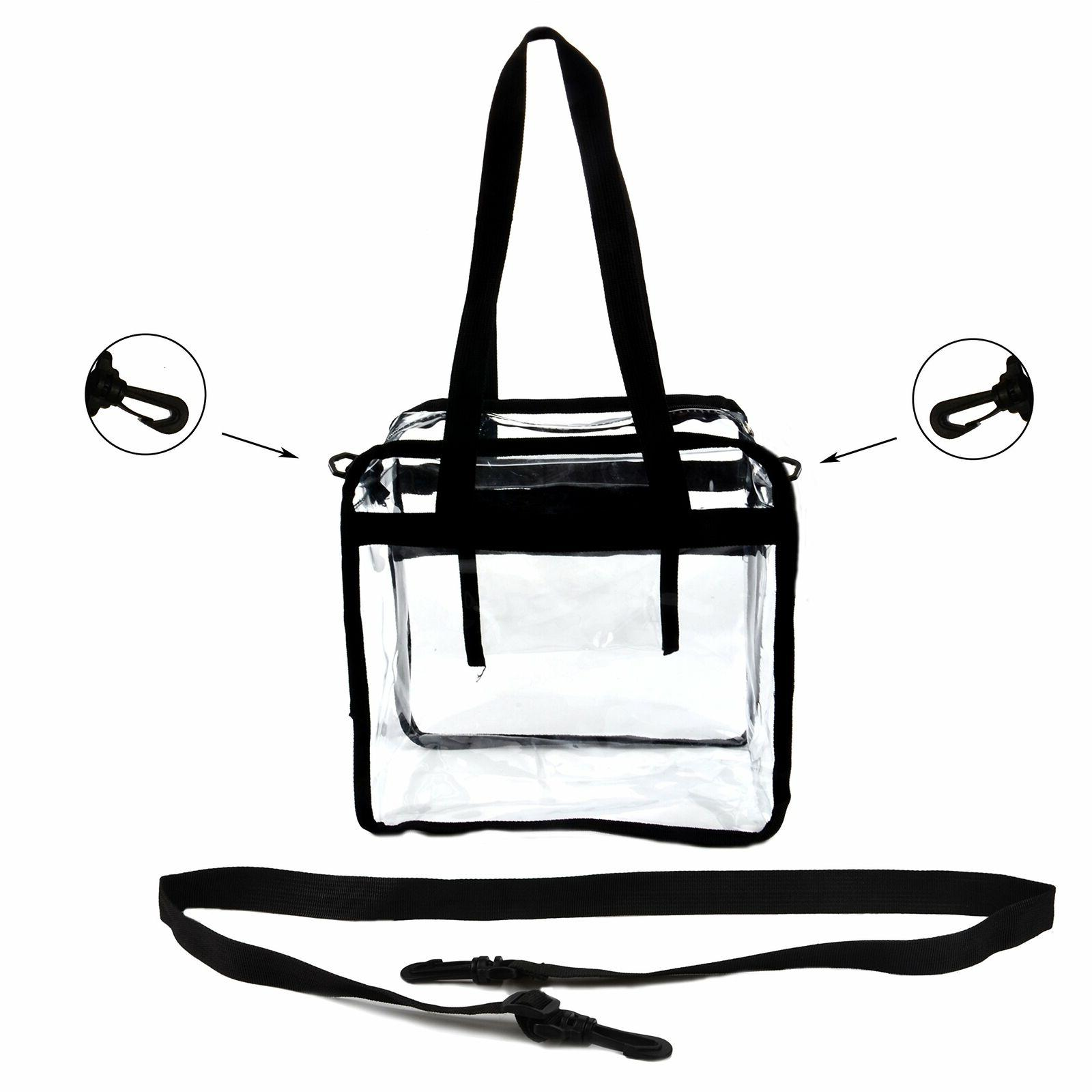 Clear Heavy Duty Tote For Lunch School Gym Holds Up to