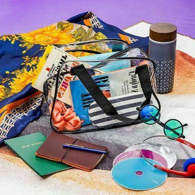 Clear Approved Tote Bag, Transparent Handbag for Travel & Concert