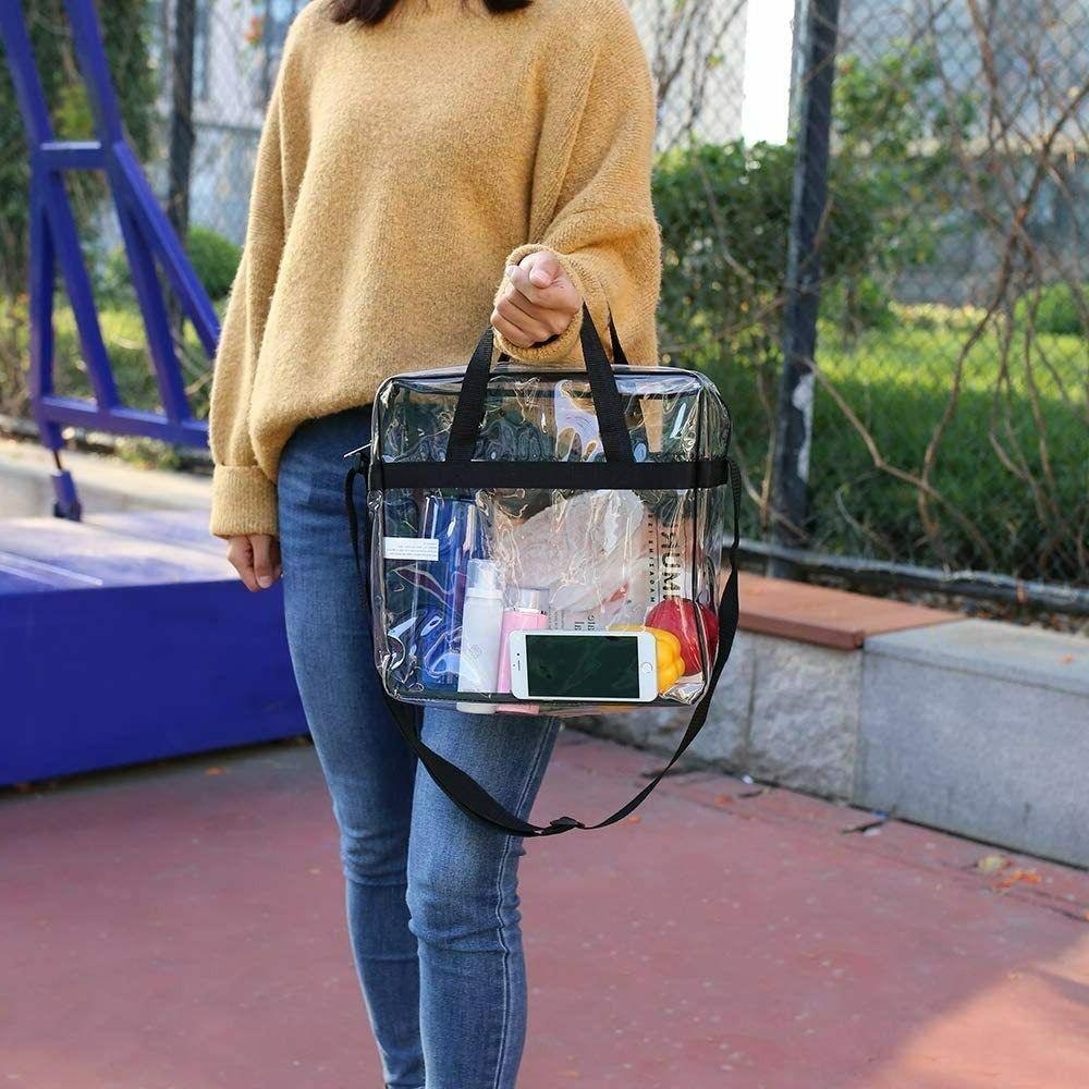 Clear Stadium Approved Adjustable Strap Transparent Backpack