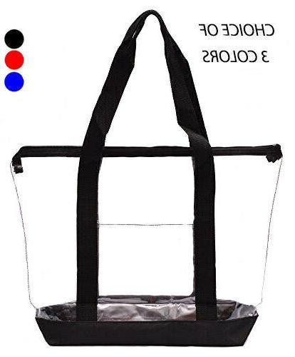 clear tote bag plastic transparent purse handbag
