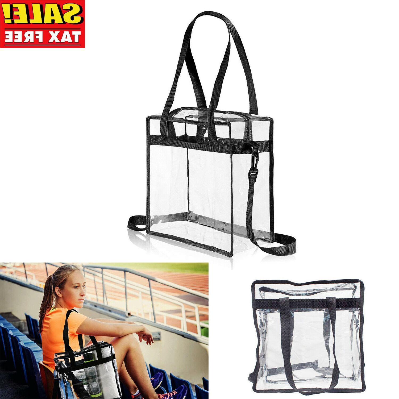 clear tote bag shoulder straps large transparent