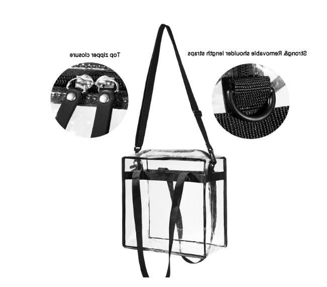 Clear Tote Bag Transparent Zipper Purse Backpack Handbag NFL Stadium