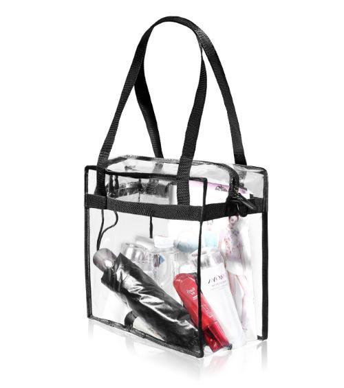 Clear Tote Zipper Backpack Shoulder Handbag NFL Stadium