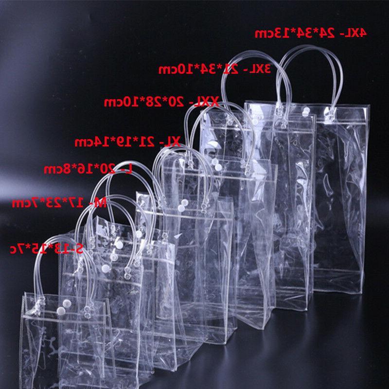 clear tote bags purse shoulder handbag pvc