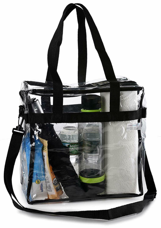Clear Tote Bag Transparent Backpack Purse Shoulder Handbag N