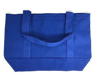 """Cotton Canvas Reusable Shopping Beach Bags 19"""""""