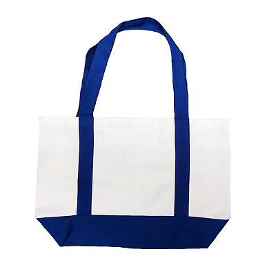 Cotton Canvas Reusable Shopping Beach Bags Gusset