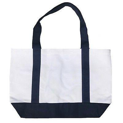 "Cotton Reusable Shopping Kitchen Beach Tote Bags 19"""
