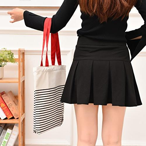 Cotton with Inner Large Beach,Shipping,Groceries,Books