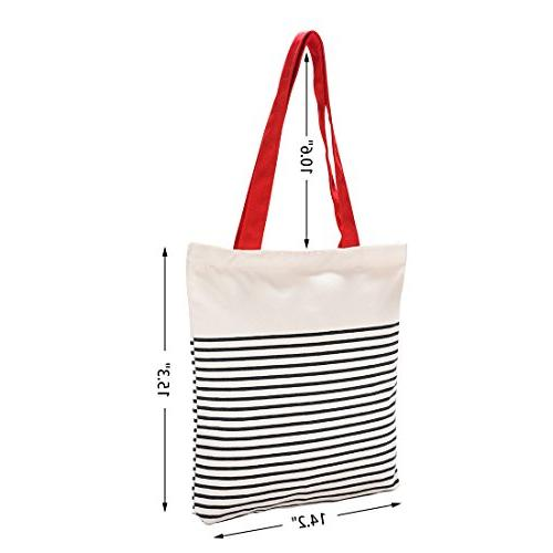 Cotton with Adorable Large Bag for Beach,Shipping,Groceries,Books