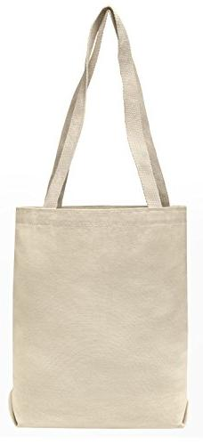 Set of 25 10oz Cotton Canvas Value Tote Bags - Reusable Made