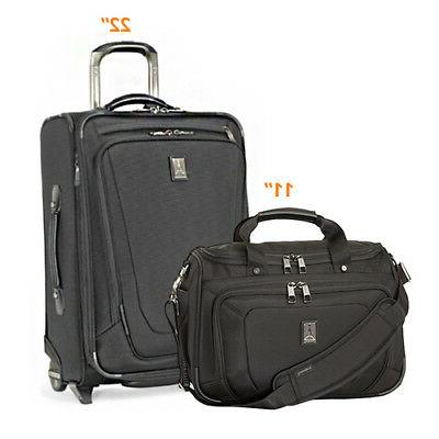Crew11 22/DeluxeTote -Black 2 Piece Luggage Set - 22 inch /