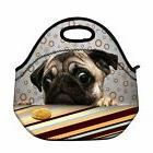 Newplenty Cute Pug Neoprene Reusable Insulated Lunch Tote Ba