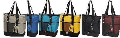 EVEREST Deluxe Shopping Tote Beach Travel Bag Insulated Comp