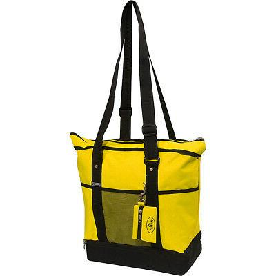 deluxe sporting tote 10 colors fabric handbag