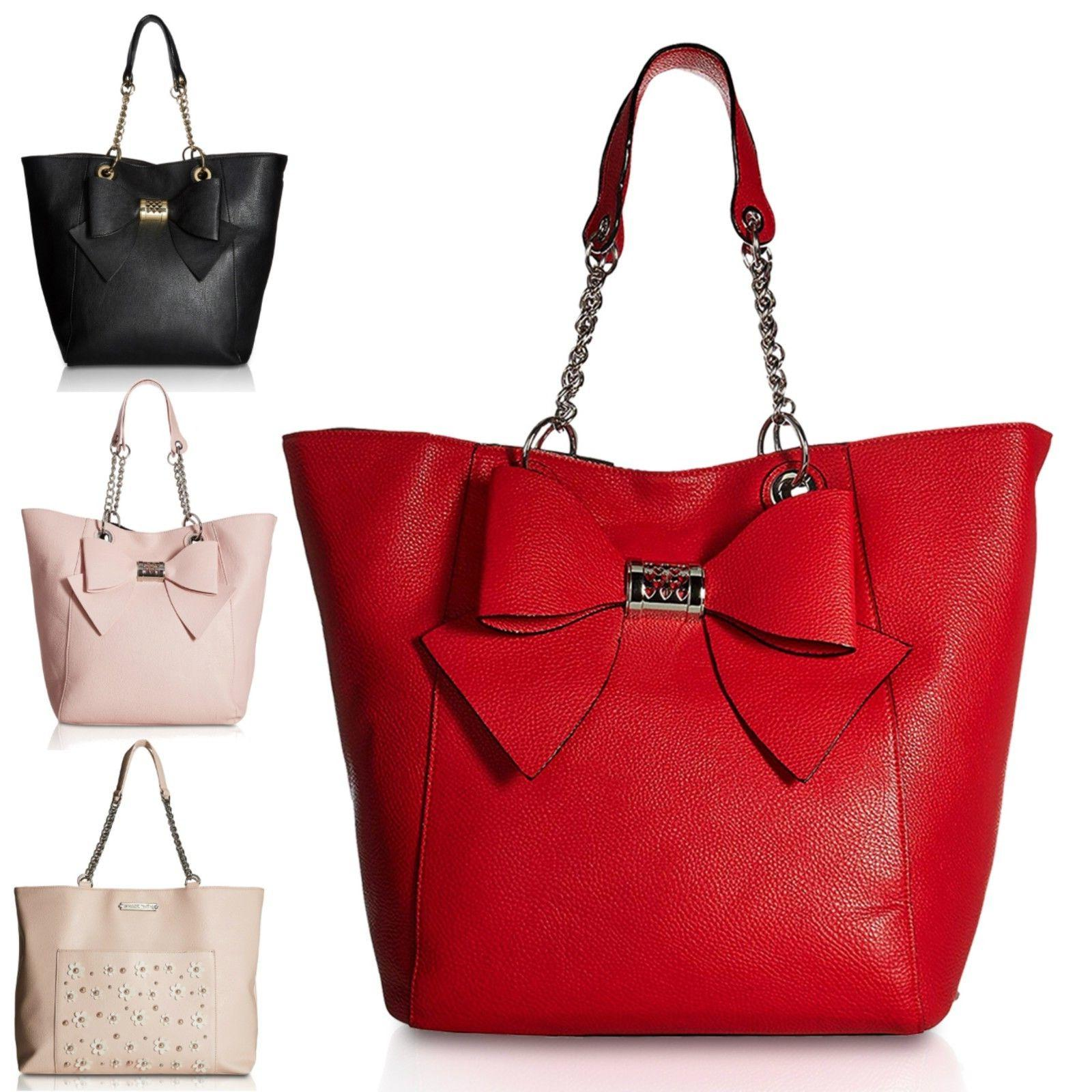east west satchel tote bag with pouch