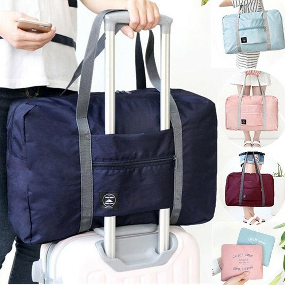 EP_ Foldable Large Duffel Bag Luggage Storage Waterproof Tra
