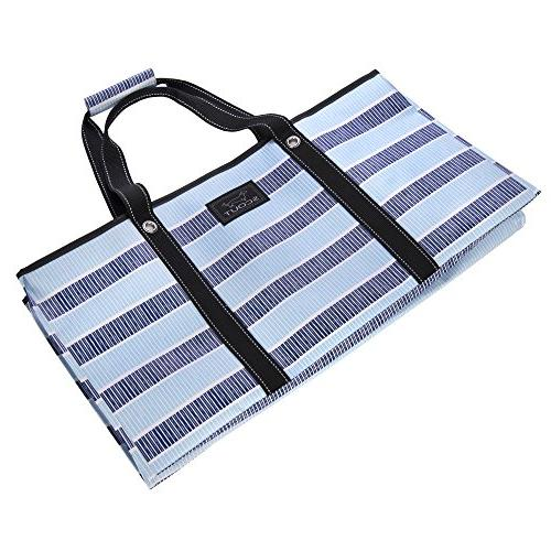 SCOUT Boy Extra Large Tote For Grocery and Storage, Flat, Reinforced Handles, Water Resistant, End