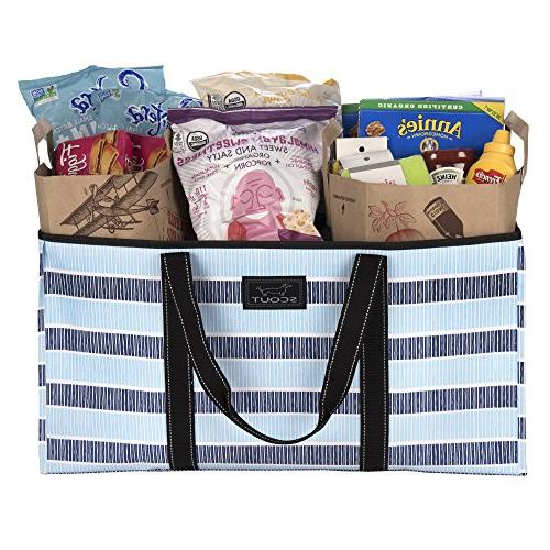 SCOUT Boy Large Bag, Grocery Flat, Reinforced Handles, Resistant,