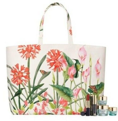 estee lauder flower large tote bag brand