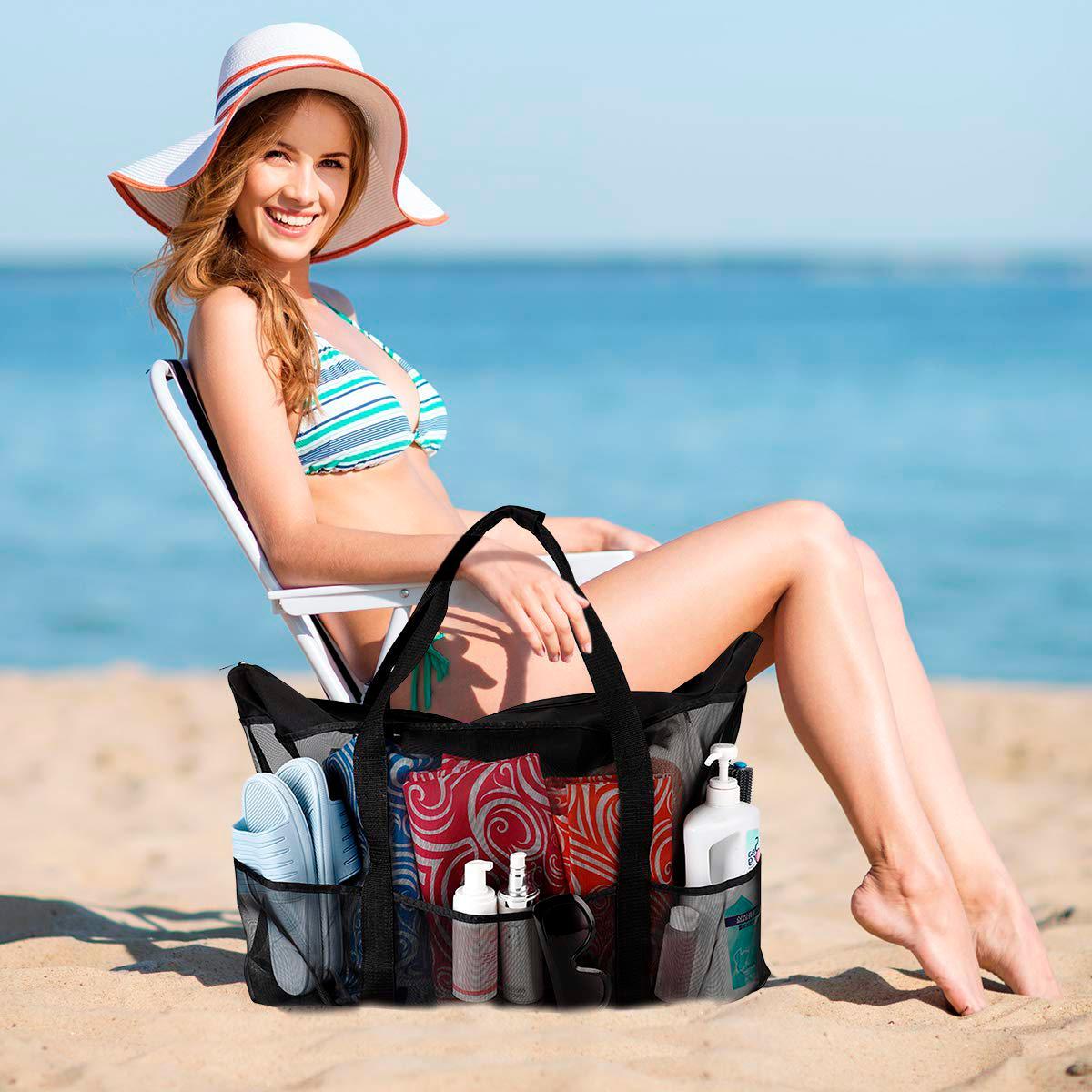 Extra Beach and Beach Bag with Pockets