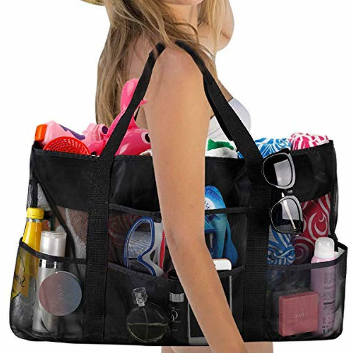 Extra Large Beach and Totes XXL Beach Bag with 8 Pockets