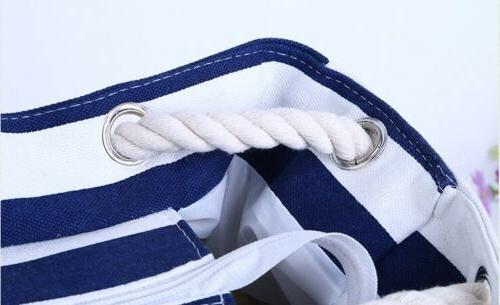 Extra Large Canvas Bag-Beach Bag-Travel Gym Navi and
