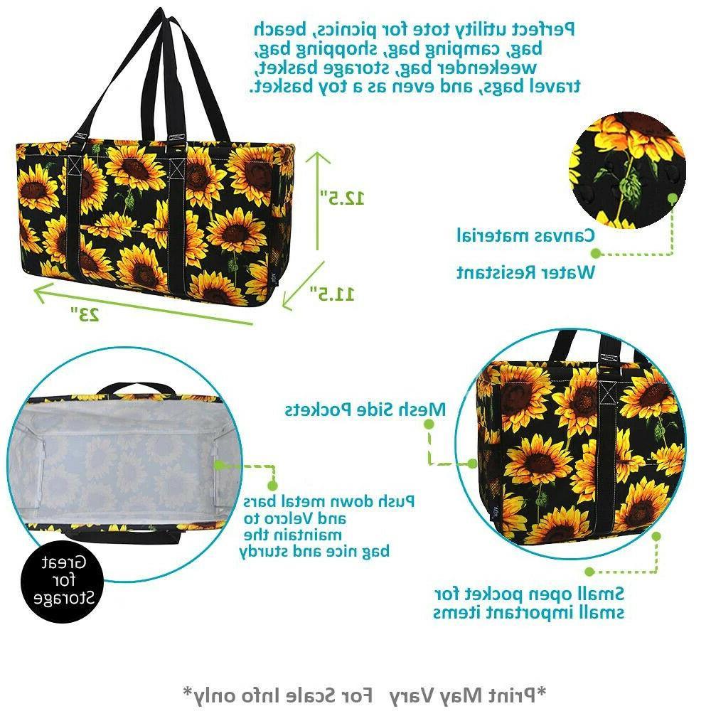 NGIL X-Large Utility Tote Bag Basket Cheetah