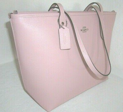Coach Zip Pink Crossgrain Leather NWT