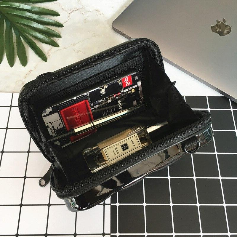 Fashion Luxury Women 2019 Suitcase Shape Mini <font><b>Luggage</b></font> <font><b>Bag</b></font> Women Famous Clutch <font><b>Bag</b></font> Small <font><b>Bag</b></font>