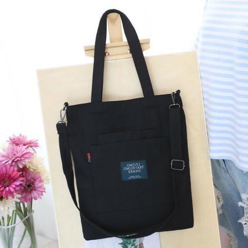 Fashion Canvas Tote Crossbody Shopper Handbag Purse Bags