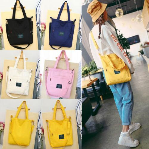 Fashion Women's Canvas Tote Crossbody Handbag