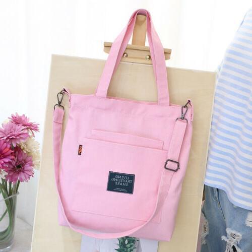 Fashion Canvas Tote Crossbody Handbag Purse