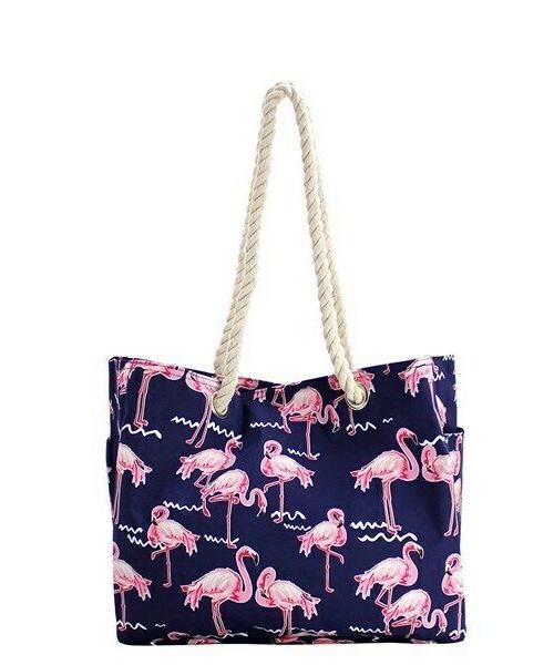 NGIL Handle Beach Bag