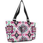 Floral Garden NGIL® Small Zippered Caddy Organizer Tote Bag