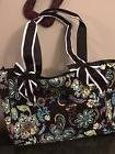 Floral print ngil quilted diaper bag brown flowers New