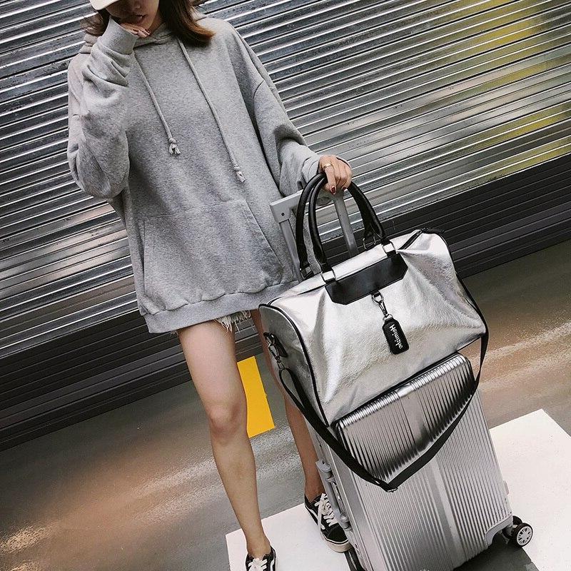 <font><b>Luggage</b></font> <font><b>Bag</b></font> Leather Handbag High Silver Messenger Women <font><b>Bags</b></font>