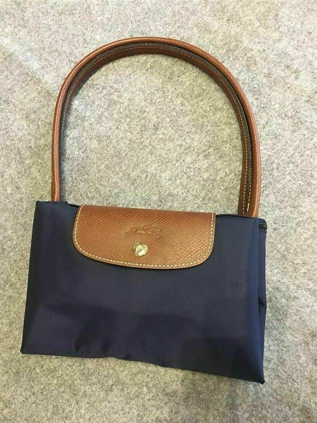 Free Pliage Tote Bag Leather Strap black