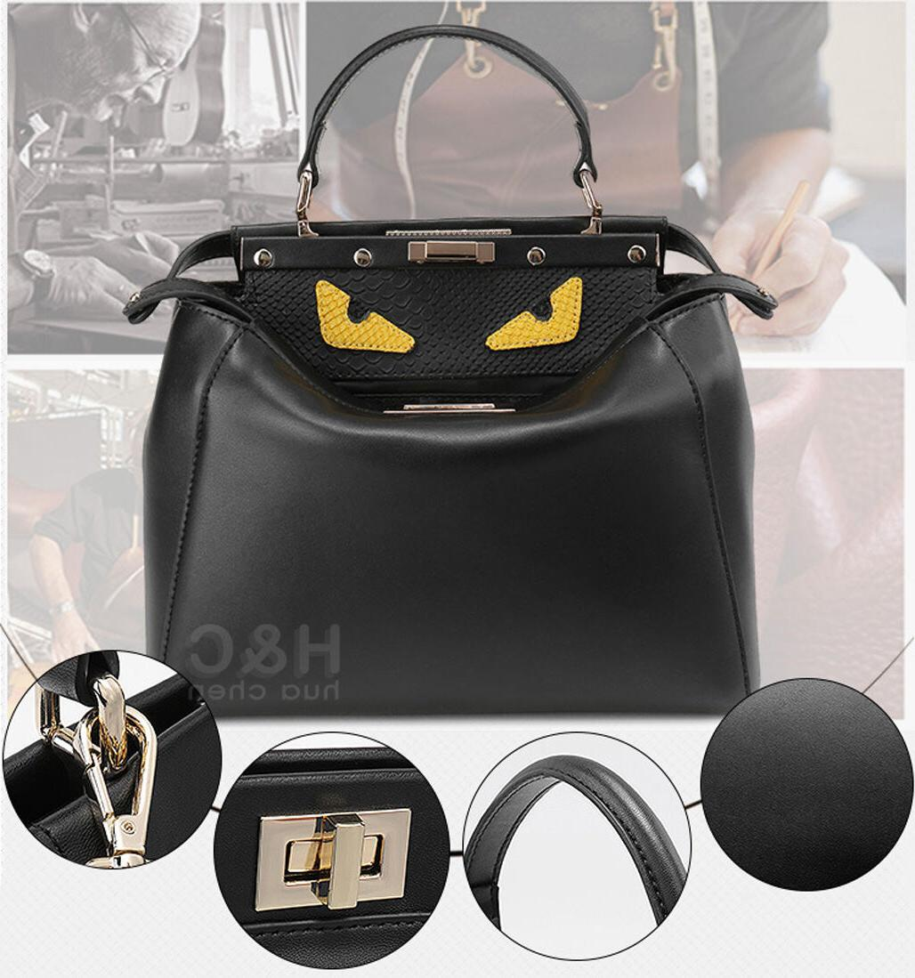 Genuine Handbag Hobo Monster Shoulder Peekaboo