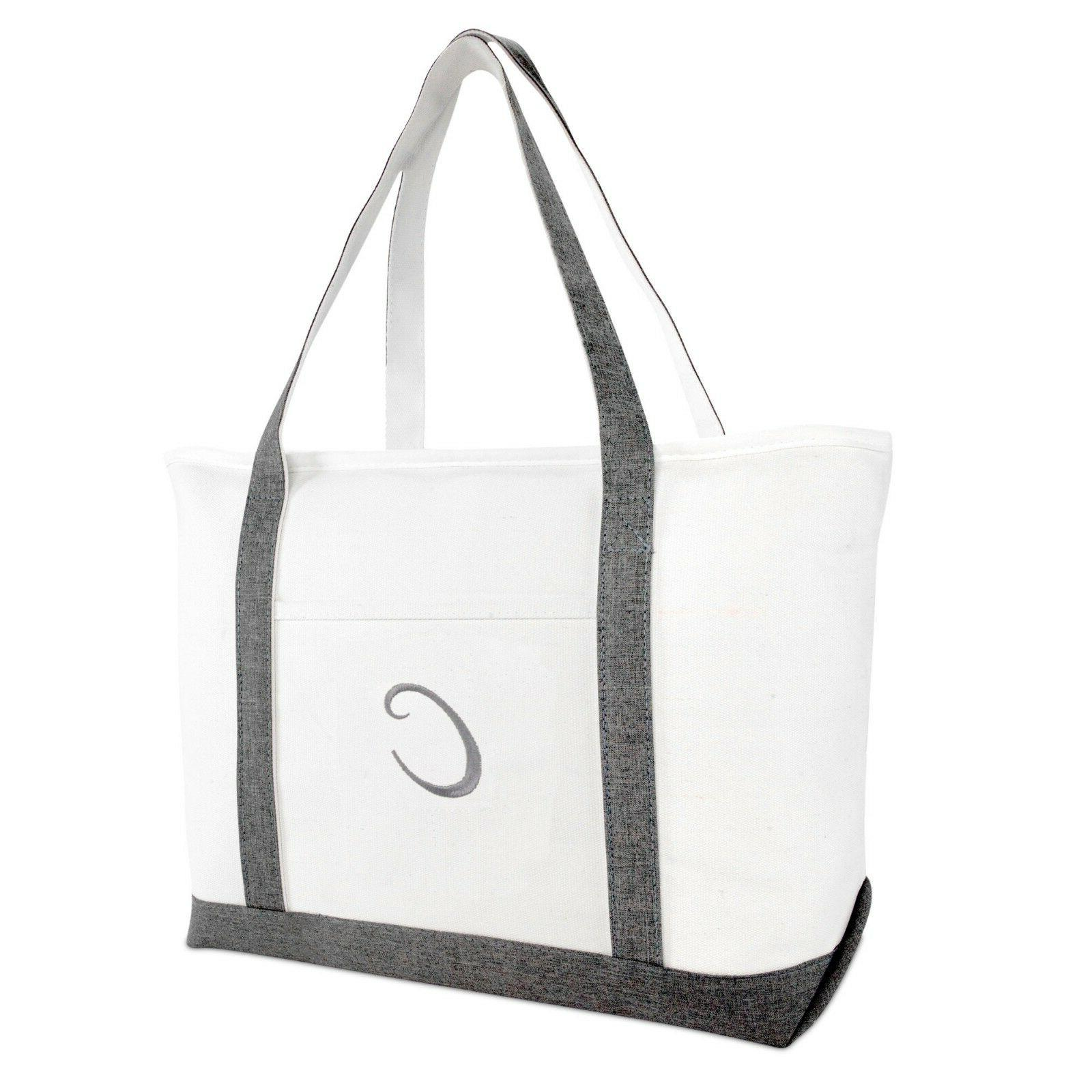 DALIX Gray Beach Tote Bag Personalized Gifts Women Shoulder