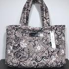 MARC JACOBS Grey Floral Paisley Quilted Nylon Enamel Logo To