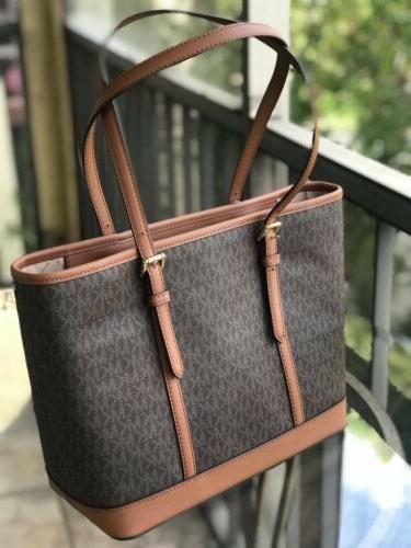 Michael Kors Women Small Leather Tote Brown