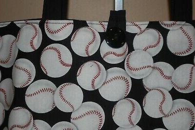 Handmade Trimed Black Handbag Purse Tote Bag Gift