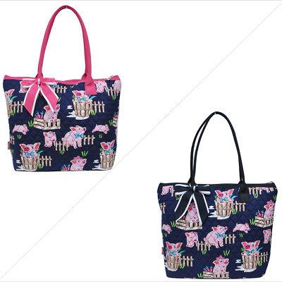 Happy Pig Town NGIL® Quilted Tote Bag