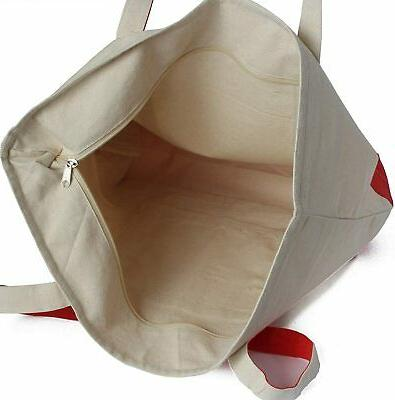 Heavy Duty Cotton Canvas Tote Bag for Grocery,