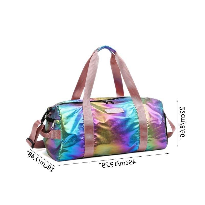 Holographic Gyms Women Duffel Shoulder Handbag Lightweight <font><b>Tote</b></font> 517D