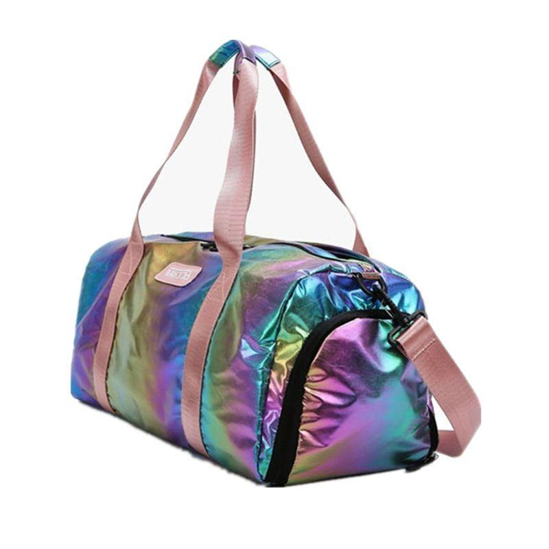 Holographic with Shoes Women Travel Handbag <font><b>Luggage</b></font> 517D