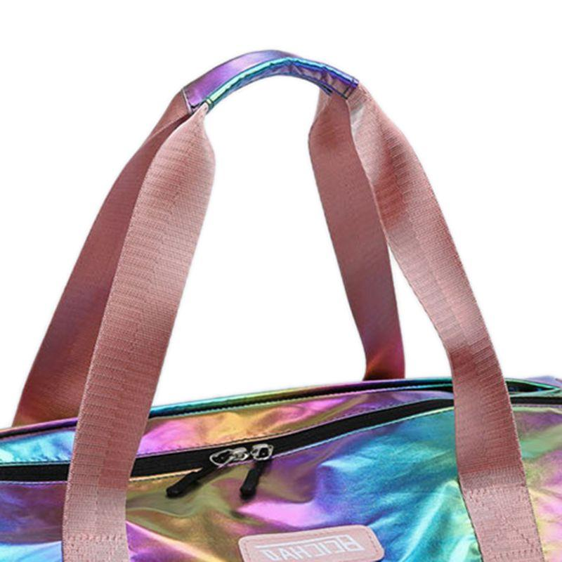 Holographic Sport with Shoes Compartment for Women <font><b>Luggage</b></font> Lightweight