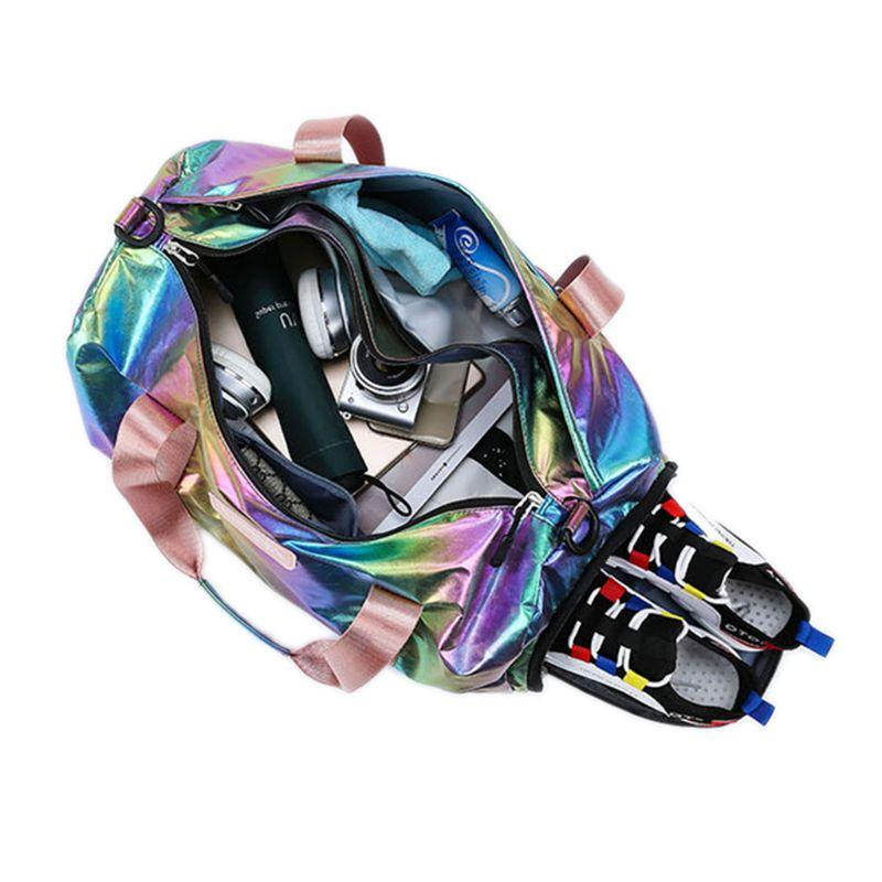 Holographic Sport Gyms with Women Shoulder <font><b>Luggage</b></font>