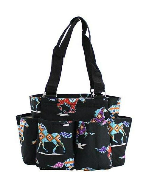 Horse Small Zippered canvas purse Organizer Tote